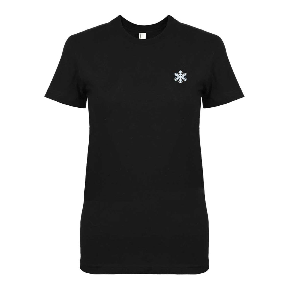 DALIX Christmas Snowflake T-Shirt Women's Embroidered Shirt