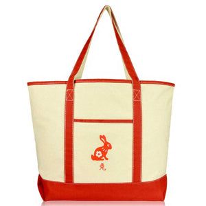 DALIX Chinese Zodiac Sign Tote Bag CNY Gifts for Women