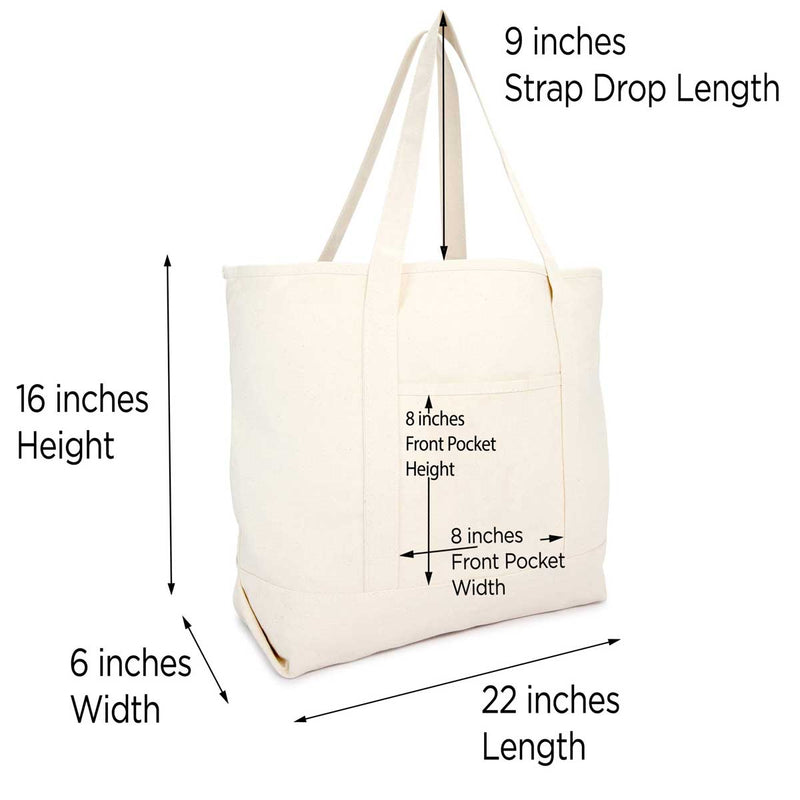 DALIX Monogram Bag Personalized Totes For Women Open Top Natural Letter A-Z