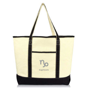 DALIX Zodiac Sign Tote Bag Horoscope Astrology