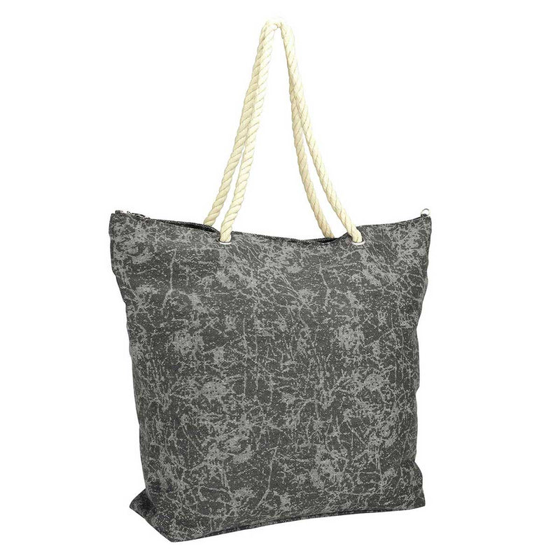 DALIX Washed Pigment Dyed Canvas Tote Bag w/ Snap Button and Cotton Handle