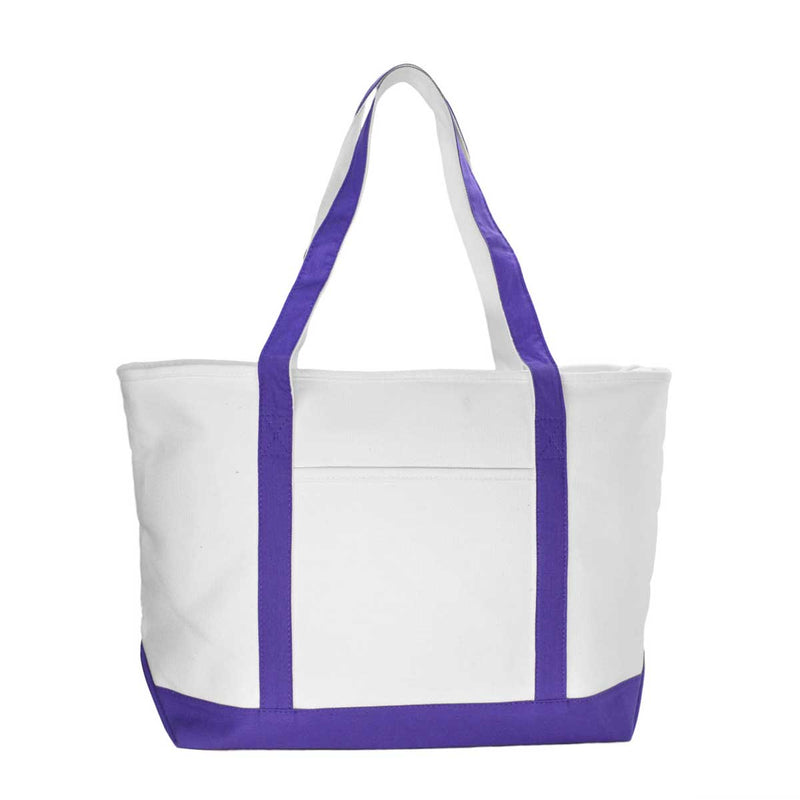 "DALIX 23"" Premium 24 oz. Cotton Canvas Shopping Tote Bag"