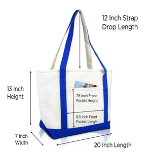 eac68a61be DALIX Heartbeat Nurse Tote Bag Cotton Canvas Embroidered