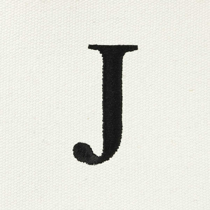 DALIX Medium Personalized Tote Bag Monogrammed Initial Letter - J