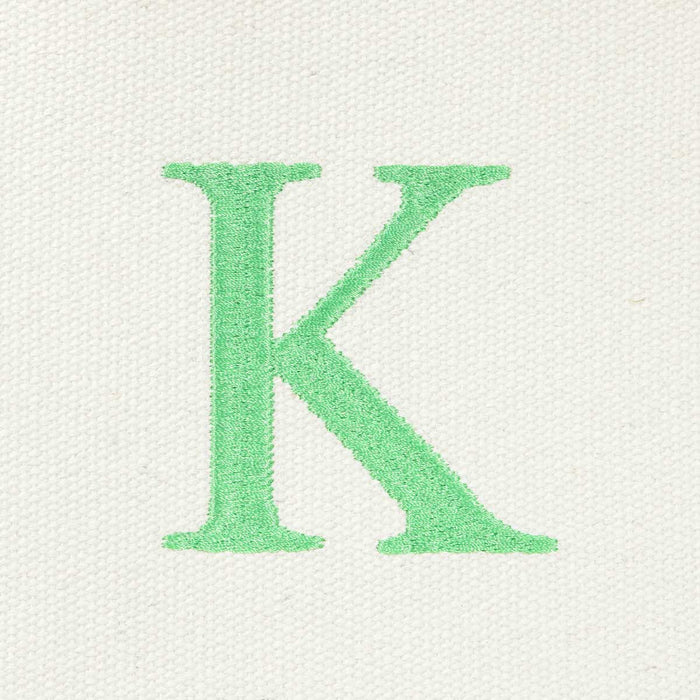 DALIX Medium Personalized Tote Bag Monogrammed Initial Letter - K