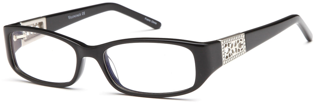 7d1919438c DALIX Womens Italy Patterned Prescription Glasses Frames Rxable Eyewear  DALIX Black