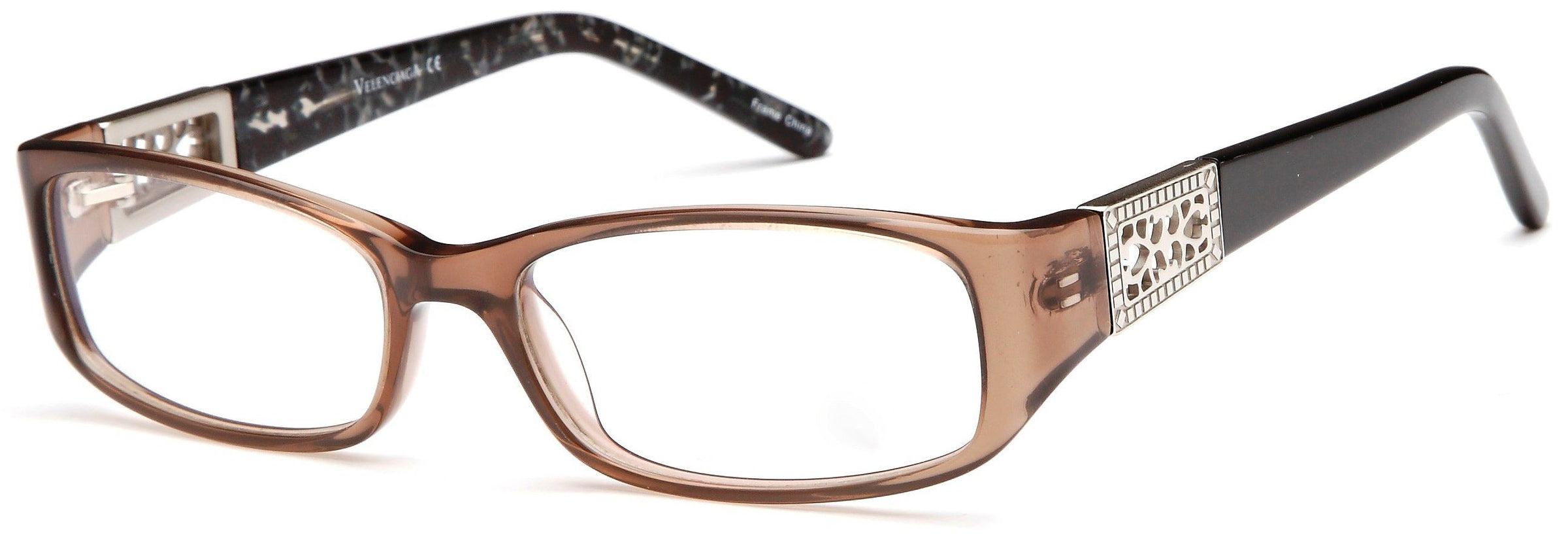 14cd6dec68f DALIX Womens Italy Patterned Prescription Glasses Frames Rxable Eyewear  DALIX Brown