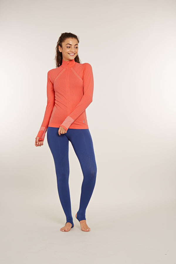 Focus Full Zip Long Sleeve Top