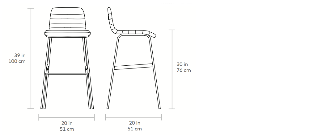 Gus Lecture Counter Stool Dimensions