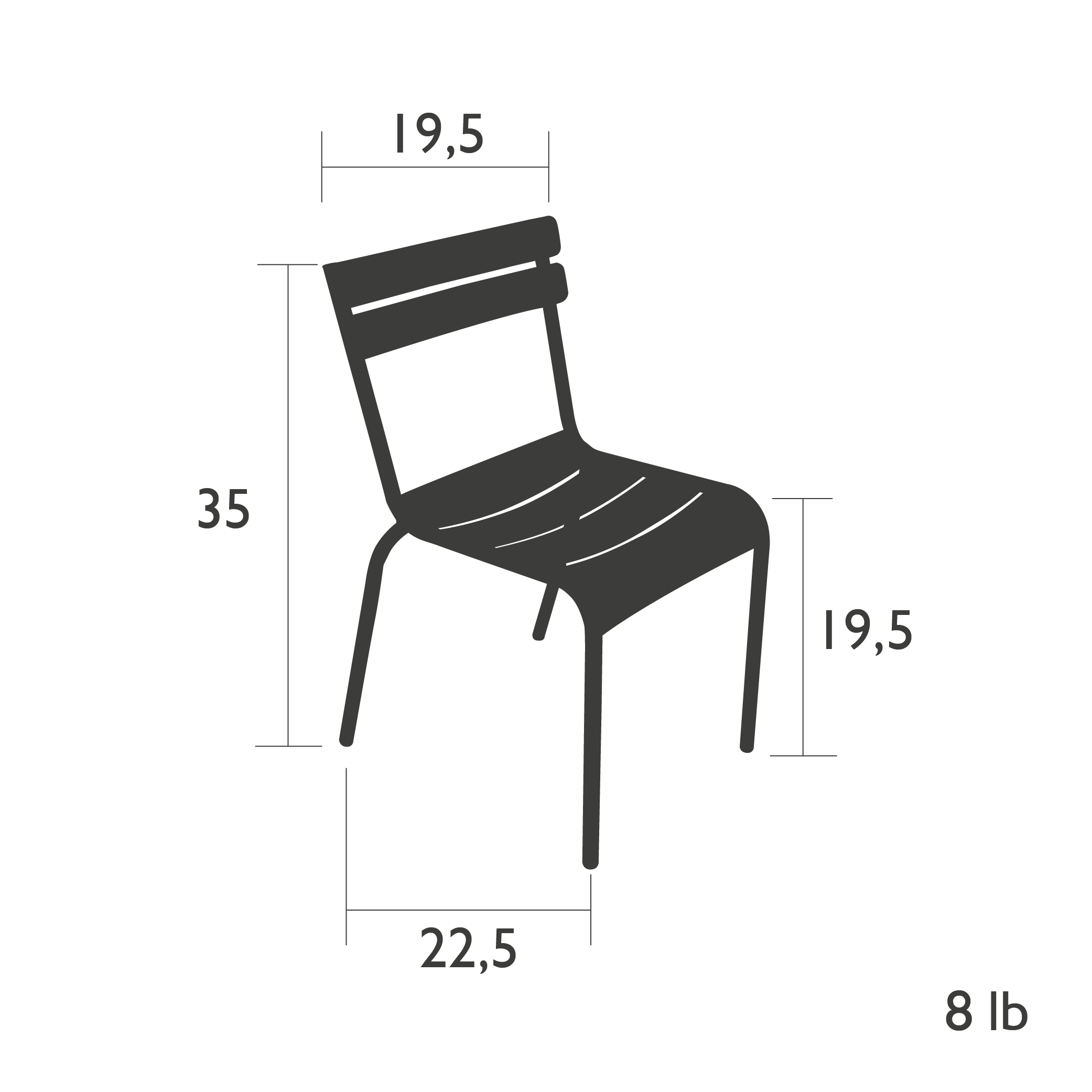 Fermob Luxembourg Chair Dimensions