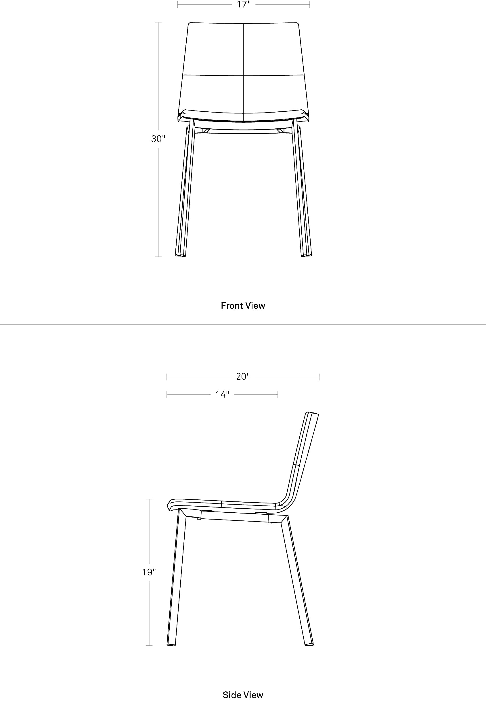 Blu Dot Between Us Dining Chair Dimensions