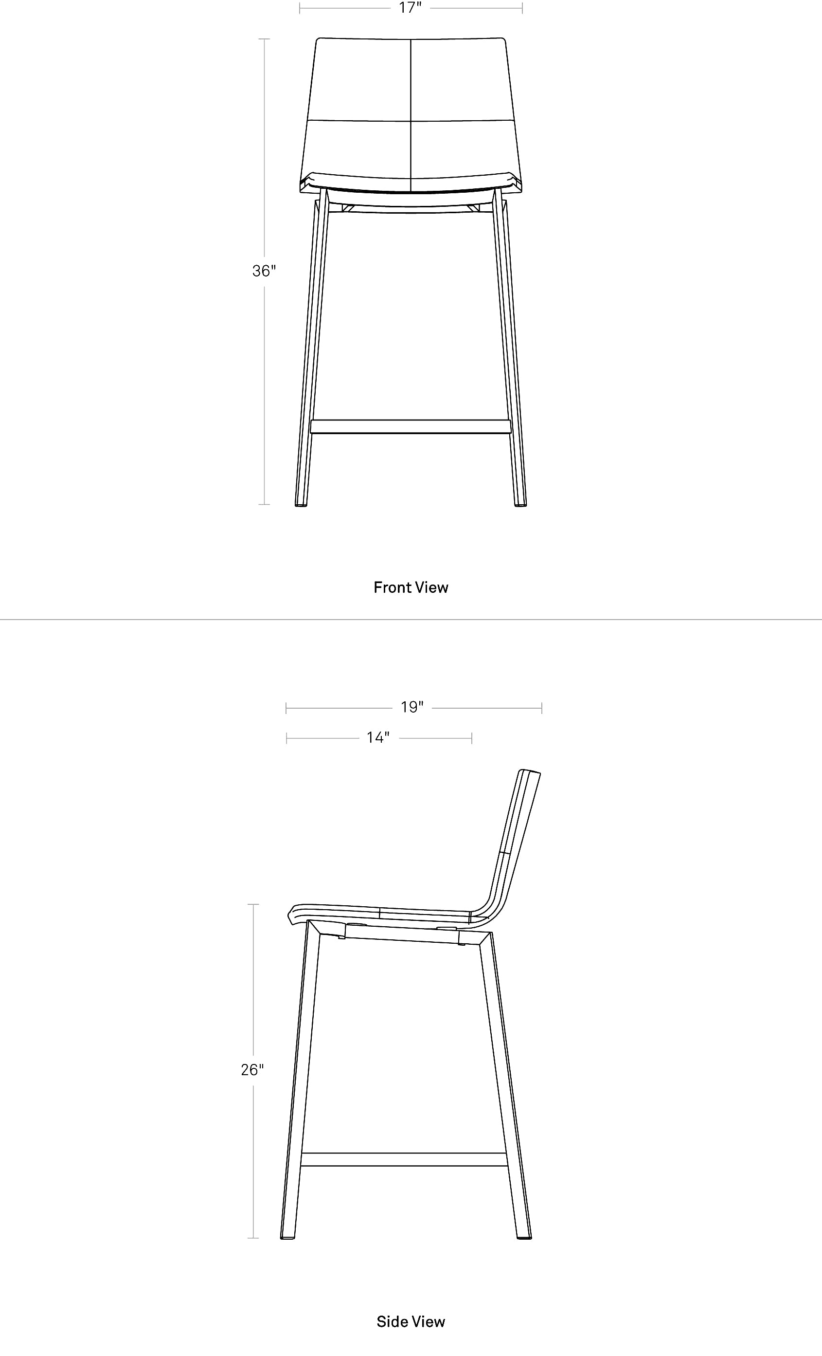 Blu Dot Between Us Counter Height Stool Dimensions