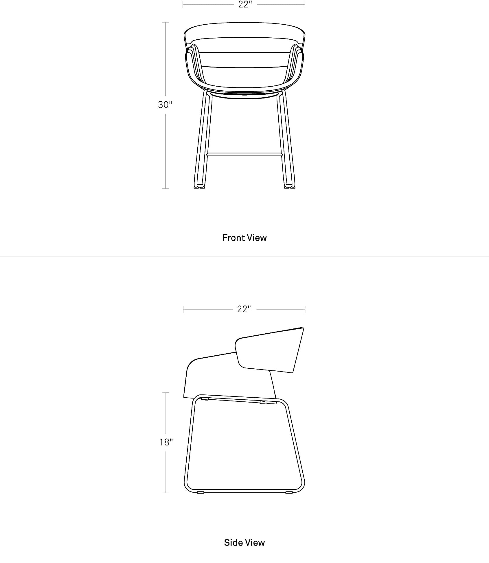 Blu Dot Racer Dining Chair Dimensions