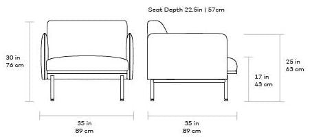 Gus Foundry Chair dimensions