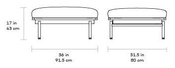 Gus Foundry Ottoman dimensions