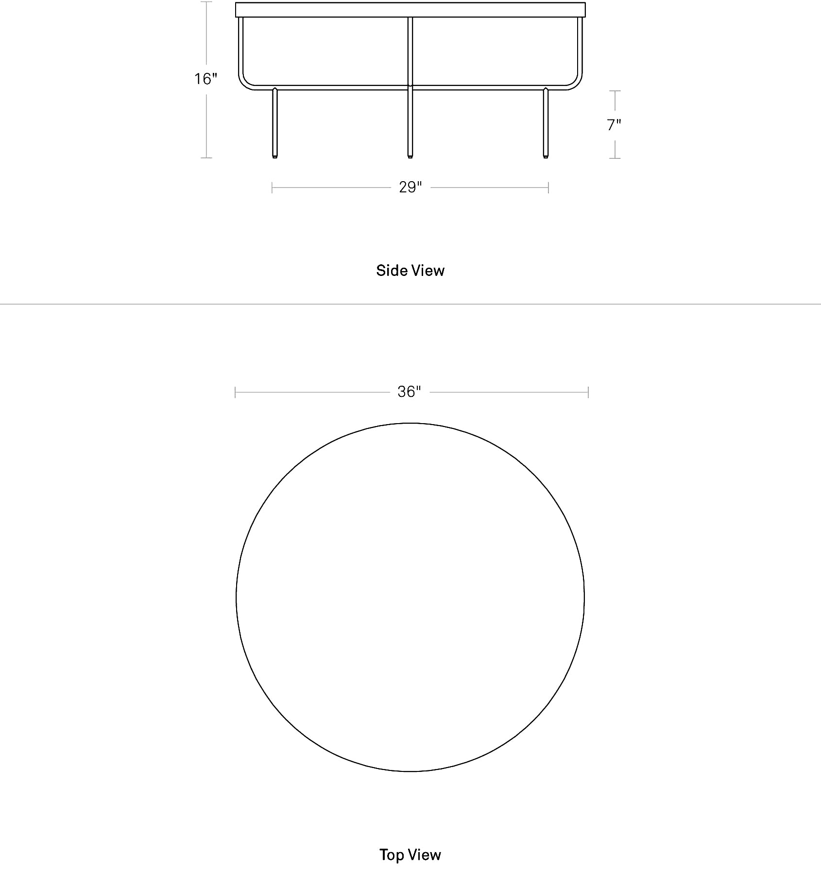 Roundhouse Coffee Table Dimensions