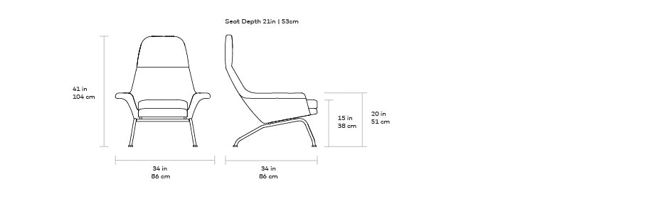 Gus Tallinn Chair dimensions