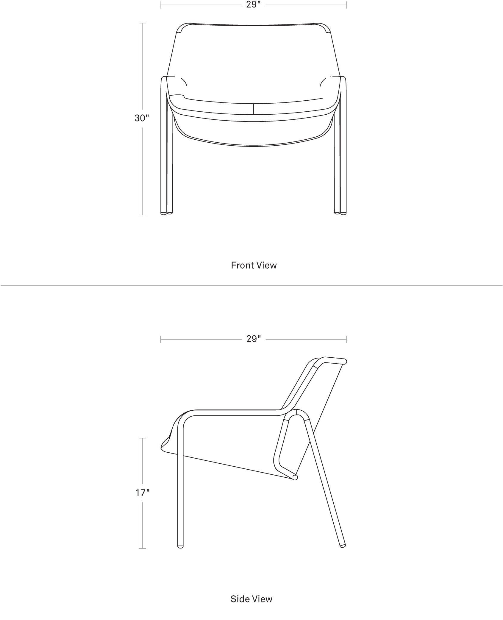 Tangent Loungee Chair Dimensions