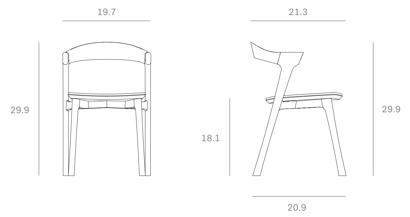 Ethnicraft Bok Dining Chair Dimensions