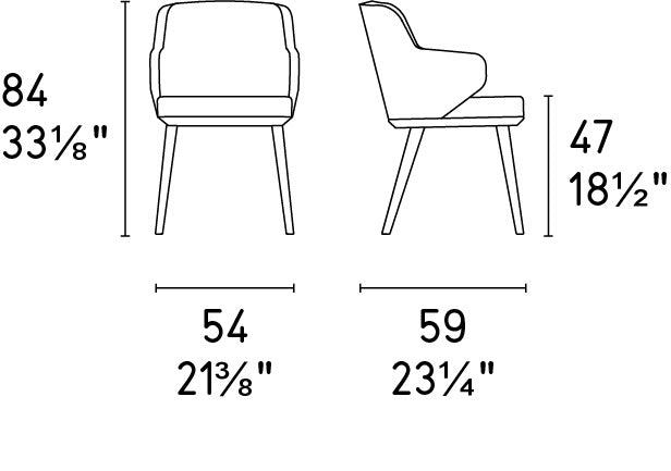 Foyer Arm Chair Dimensions