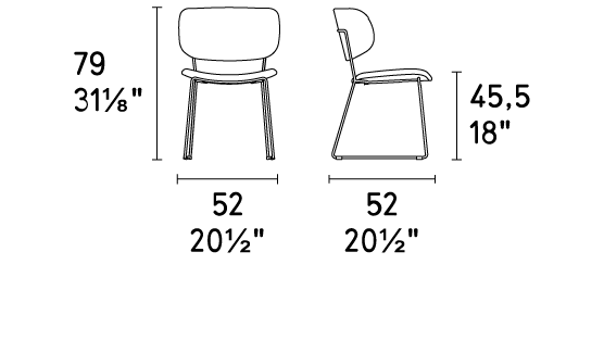 Calligaris Claire M Chair Dimensions