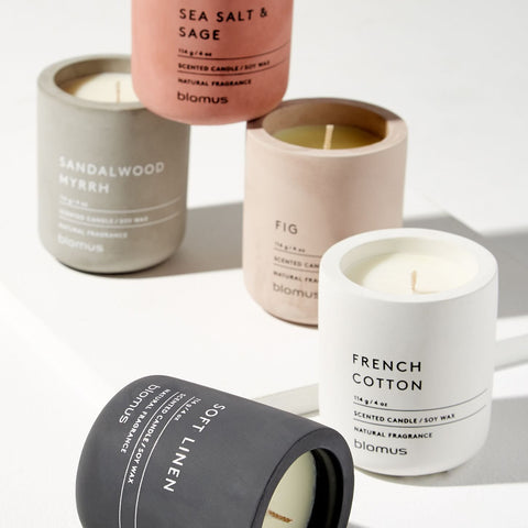 Scented Candles in Concrete - Design Distillery