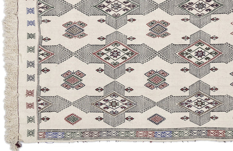 Embroiddered Kilim Rug - Design Distillery