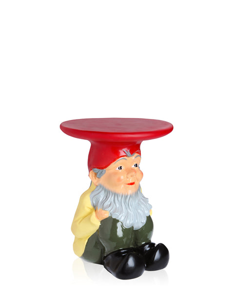 Painted Gnome Outdoor Stool / Table