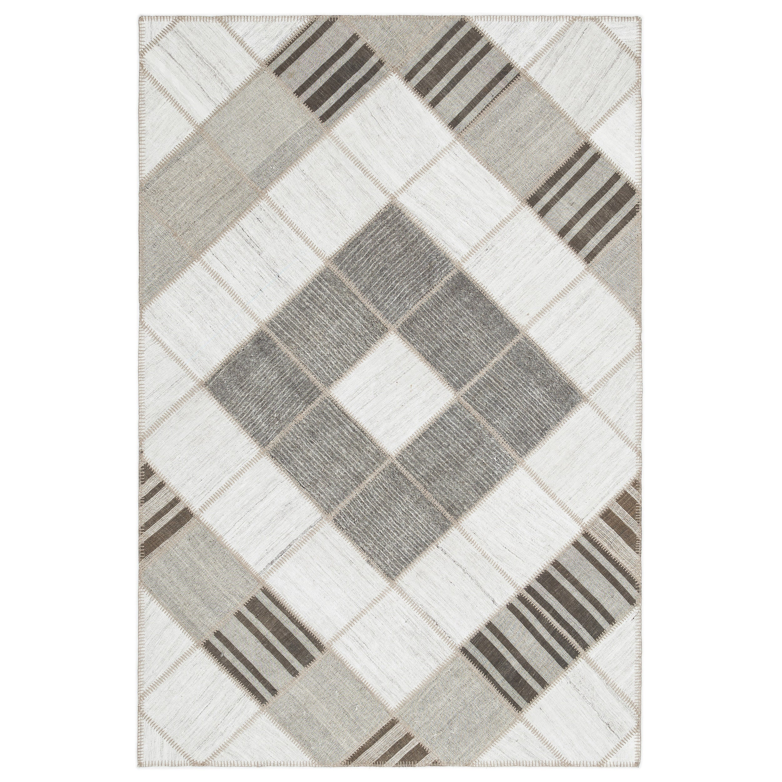 Striped Kilim Patchwork Rug