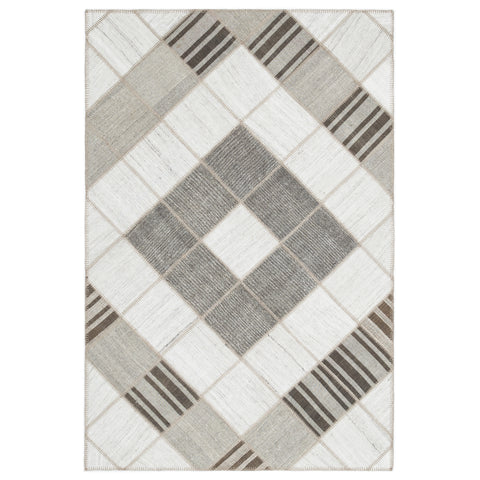 Striped Kilim Patchwork Rug - Design Distillery