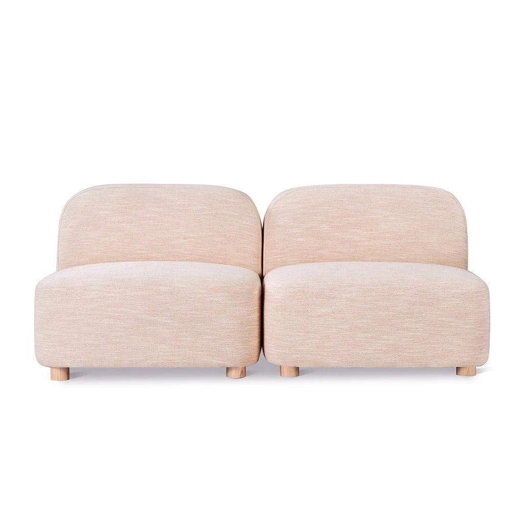 Circuit Modular 2 Piece Armless Sofa