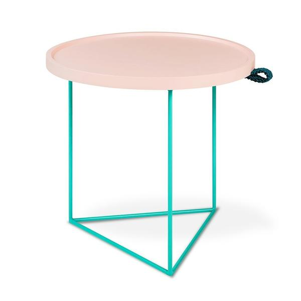 LUUM Porter End Table - Pink Pop Hematite