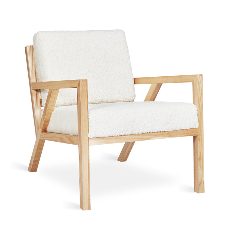 Gus Modern Gus* Modern Truss Chair Accent Himalaya Cloud