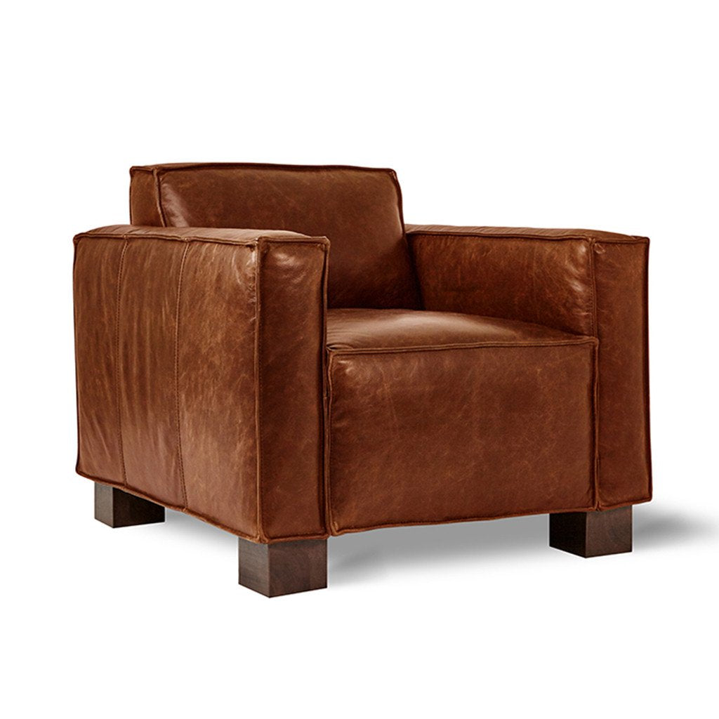 Gus* Modern Cabot Leather Lounge Chair - Design Distillery