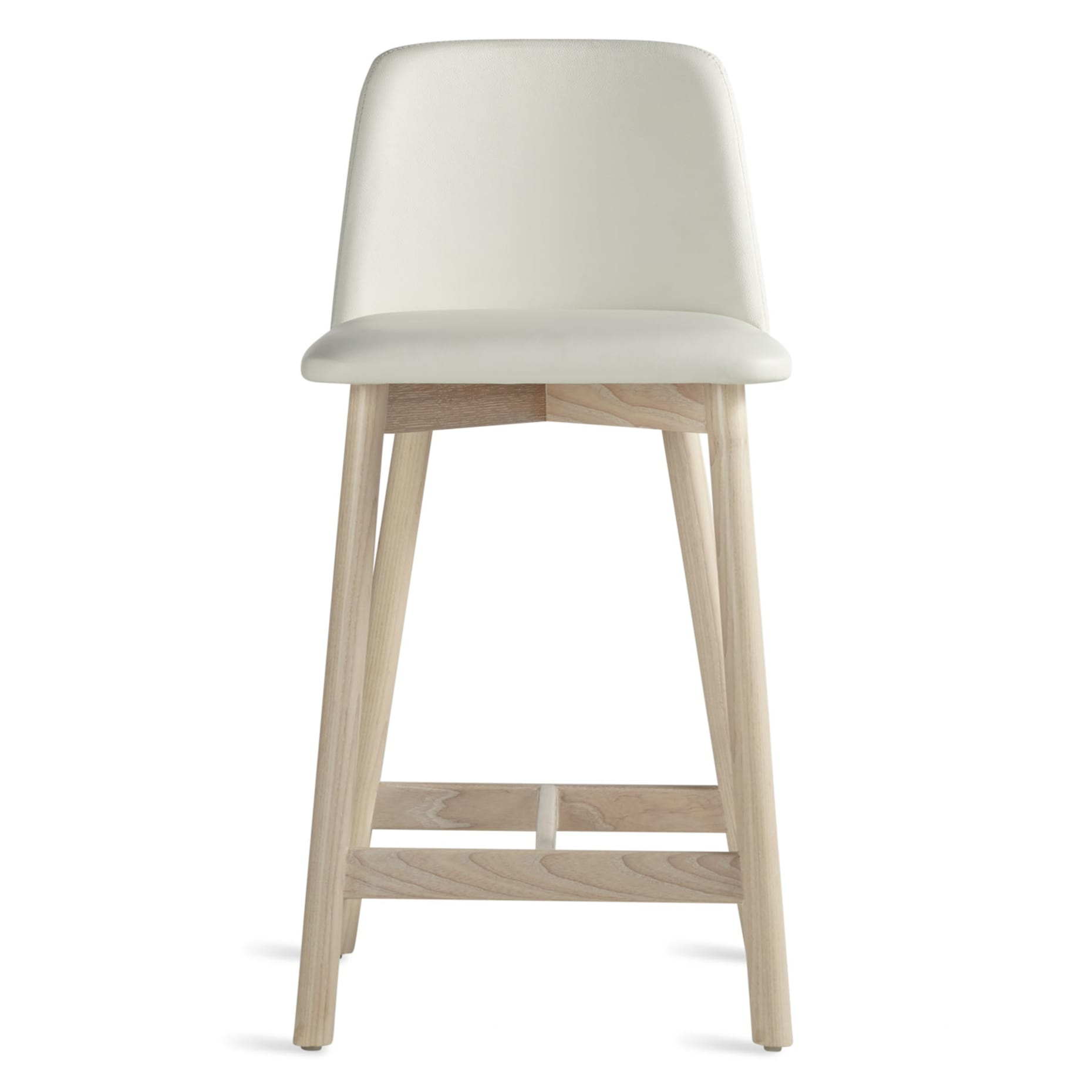 Blu Dot Chip Leather Counter Stool White