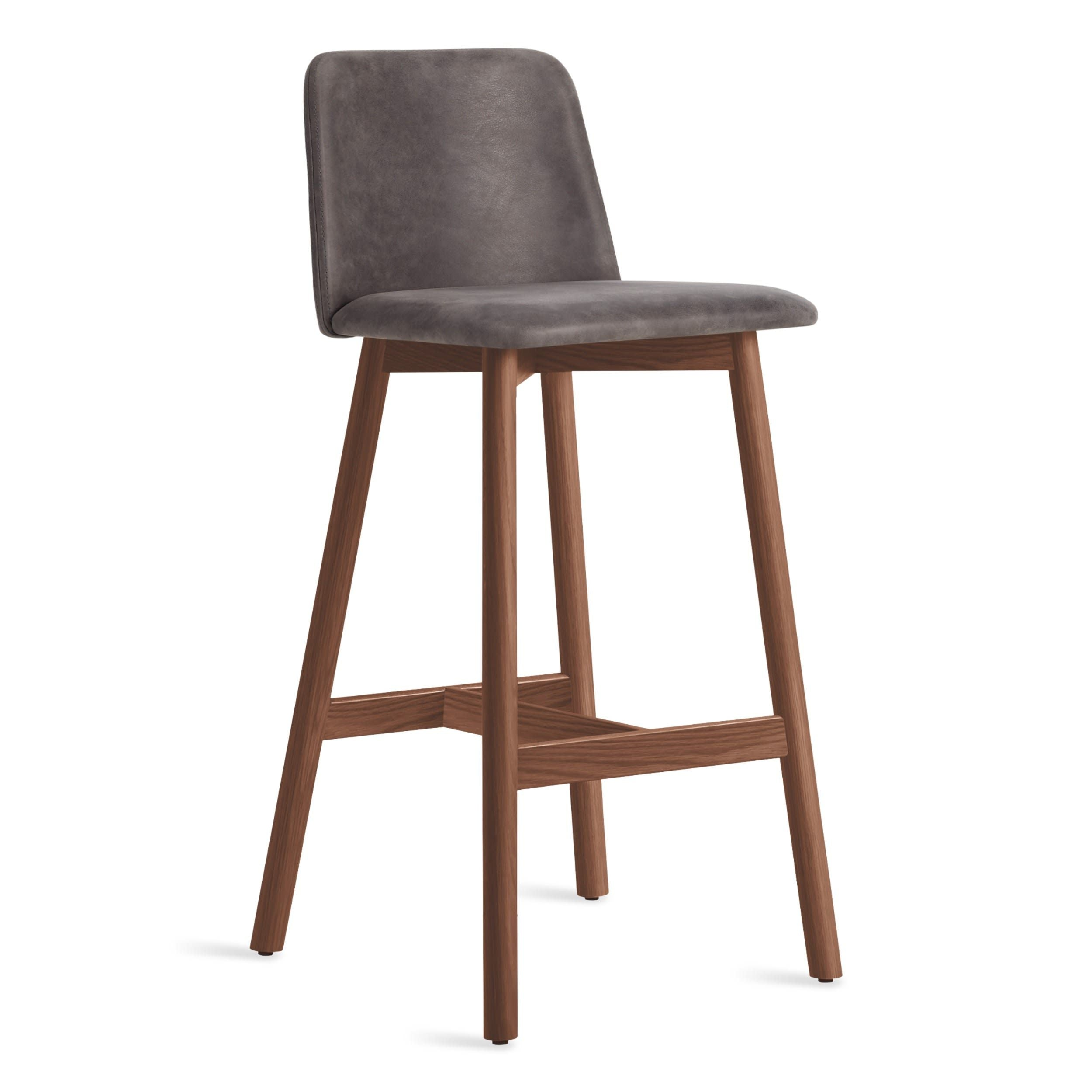 Blu Dot Chip Leather Counter Stool Bar Stool Barstool
