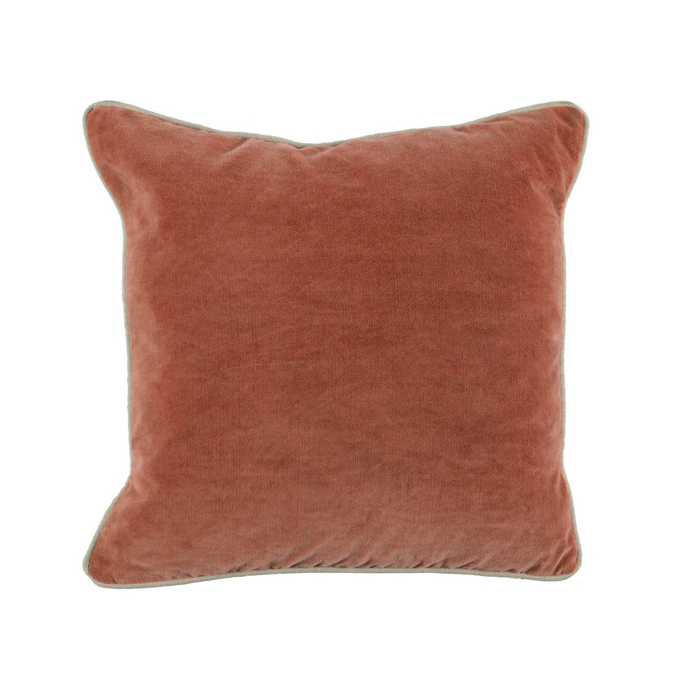 Terra Cotta Velvet Pillow