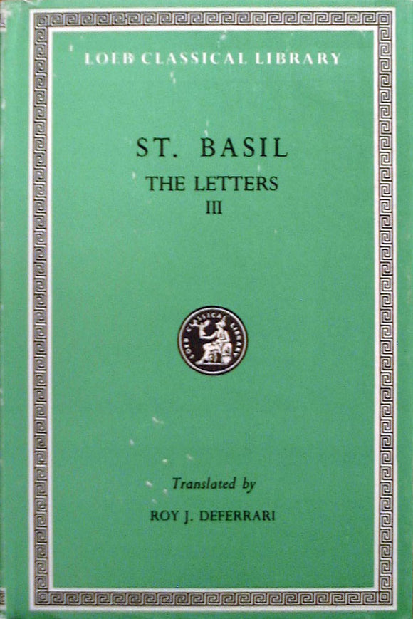 The Letters - St. Basil the Great - vol III