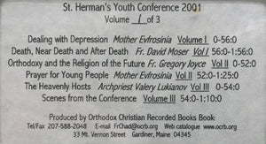2001 St. Herman's Youth Conference - Cassette