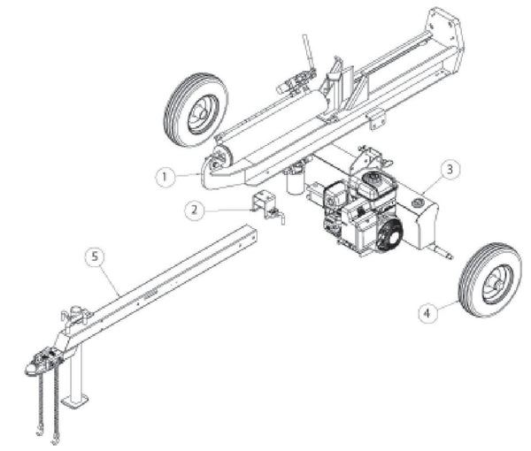 Speeco 22 Ton Log Splitter Parts Diagram 401622BL – Foards