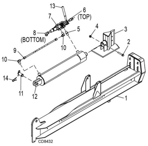 Speeco 25 And 28 Ton Log Splitters Parts Diagram 597477 597478
