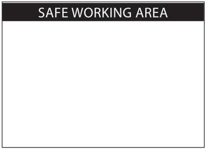 (29454) DECAL Safe Working Area