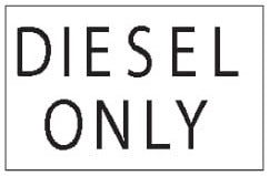 (29461) Decal Diesel Only