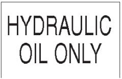 (29463) Hydraulic Oil Decal