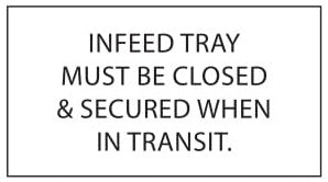 (29470) Infeed Tray Must Be Closed