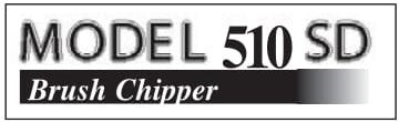 (30249) Model 510 SD Chipper