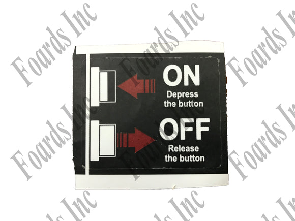 (410-159) On Off Decal