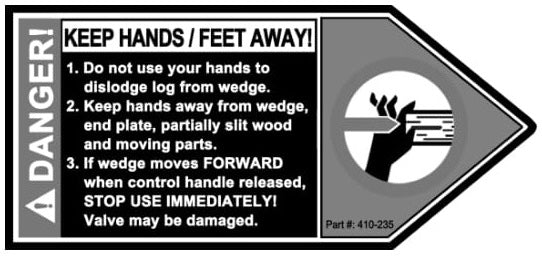 (410-235) Decal, Keep Hands and Feet Away