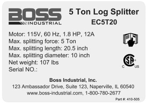 (410-505) Boss Specs Decal