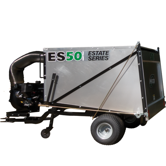 PECO Estate Series ES50 50 Cubic Foot Trailer Lawn Vac w/ 10hp Briggs & Stratton Vanguard (795001)